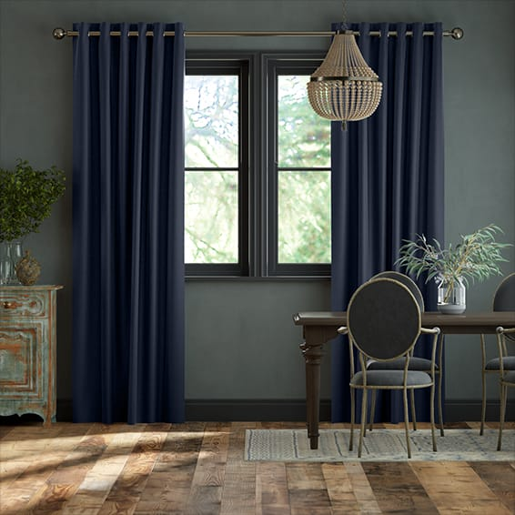 Harrow Navy Curtains