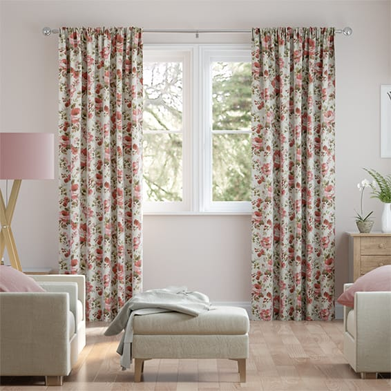 Havisham Red Rose Curtains