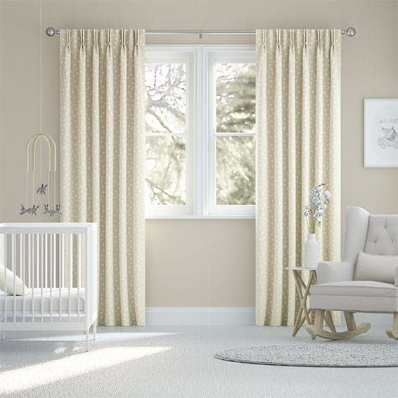 Hearts Pale Stone Curtains