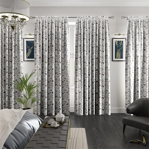Hollydale Silver Curtains