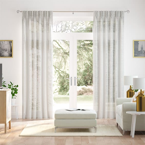 Ionian Voile Cloud White Curtains