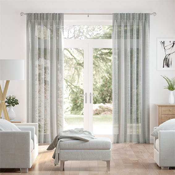 Ionian Voile Fossil Grey Curtains