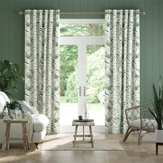 Green Patterned Curtains, Shop Floral, Leaf, Forest