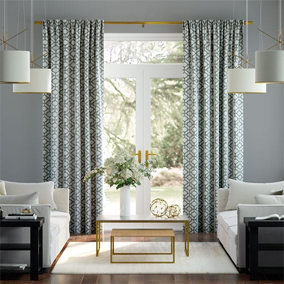 Lattice Silver Curtains