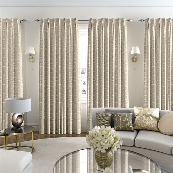 Leadale White Gold Curtains