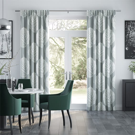 Leaf Pewter Curtains