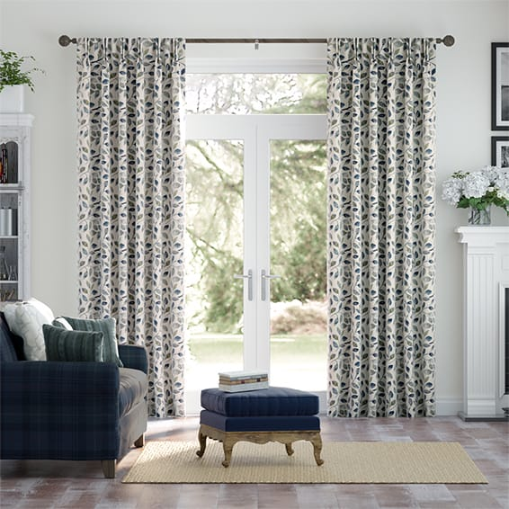 Leafy Grove Inkwell Curtains
