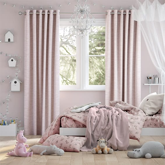 Liliana Soft Pink Curtains