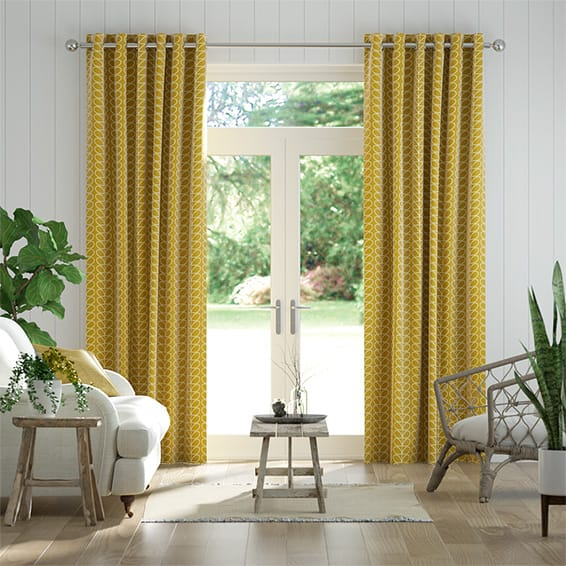 Linear Stem Dandelion Curtains