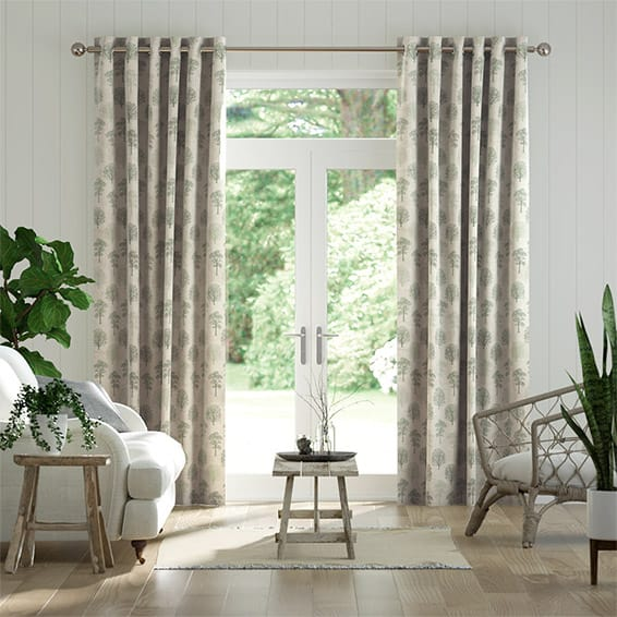 Little Orchard Evergreen Curtains