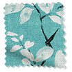 Madelyn Linen Tropical Blue Curtains slat image