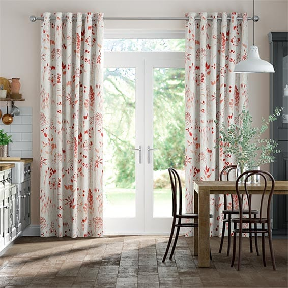 Meadow Coral Curtains