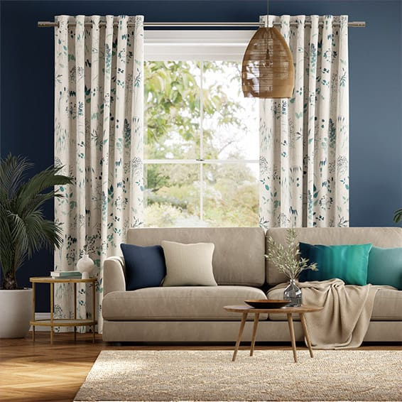 Meadow Teal Curtains