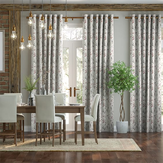 Nerissa Embroidered Embers Curtains
