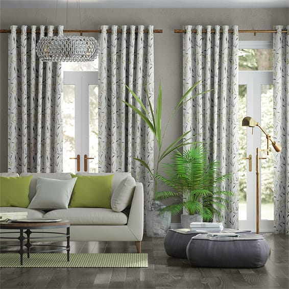 Nerissa Embroidered Spring Storm Curtains
