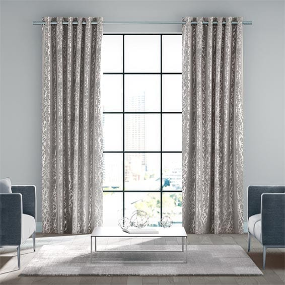 Nissa Silver Dew Ready Made Curtains