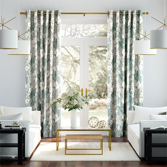 Orchid Faux Silk Ocean Curtains