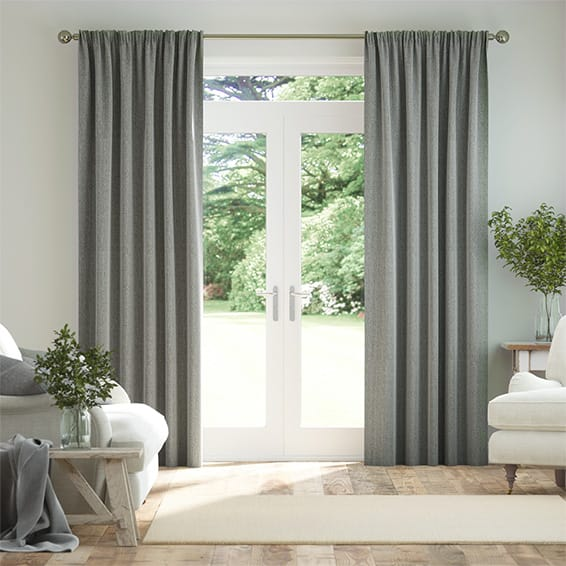 Paleo Linen Elephant Grey Curtains