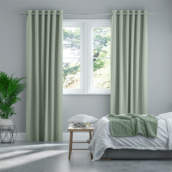 Paleo Linen Pastel Green Curtains