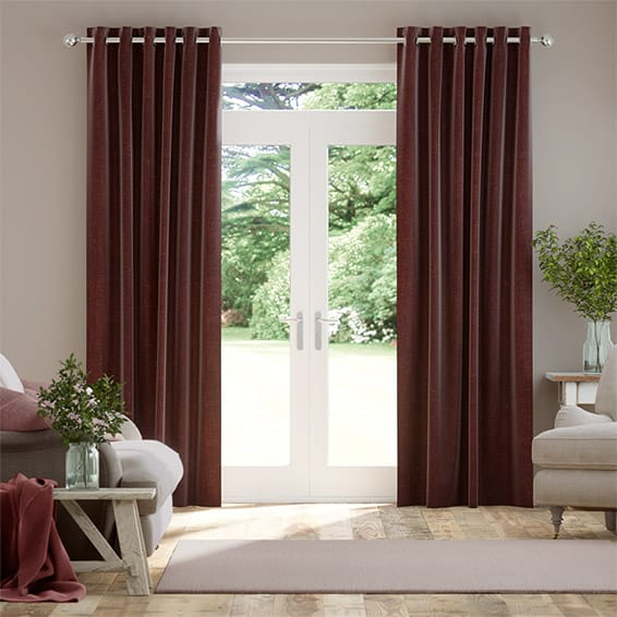 Paleo Linen Pompeii Red Curtains
