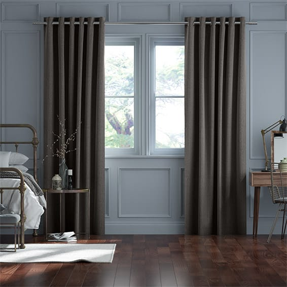 Paleo Linen Slate Curtains
