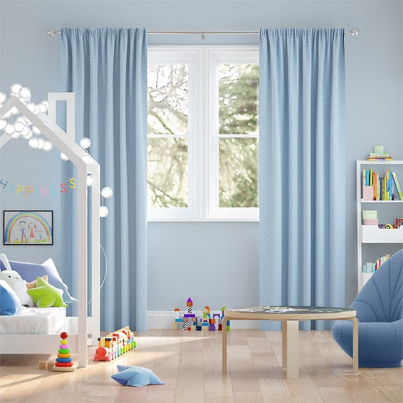 Party Polka Moonstone Curtains