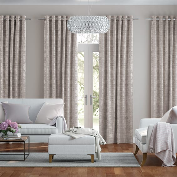 Persian Velvet Natural Blush Curtains