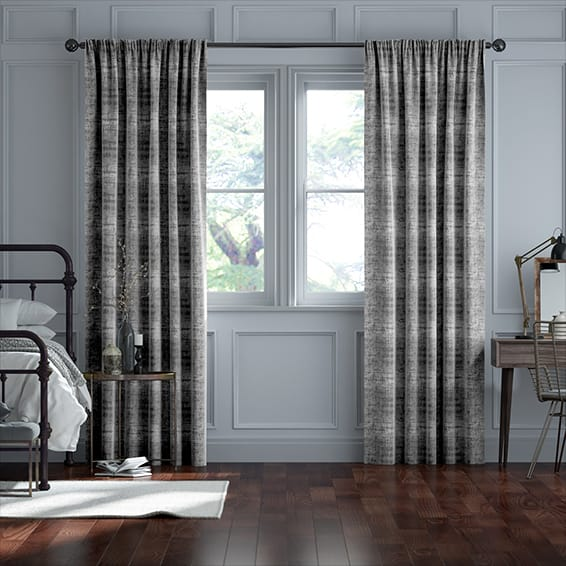 Persian Velvet Titanium Curtains