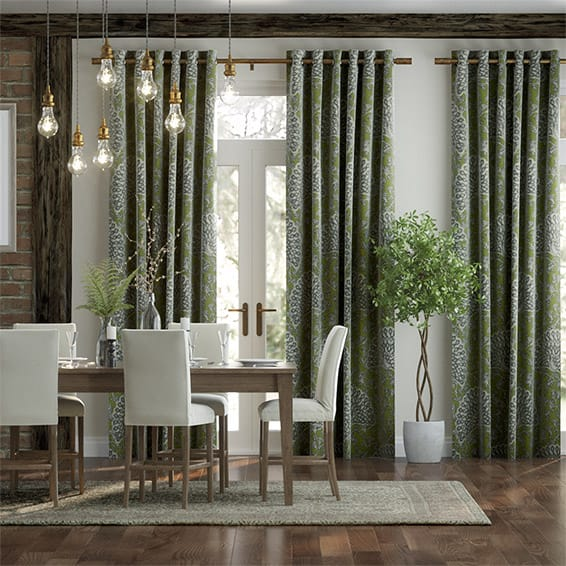 Pinion Velvet Pasture Green Curtains