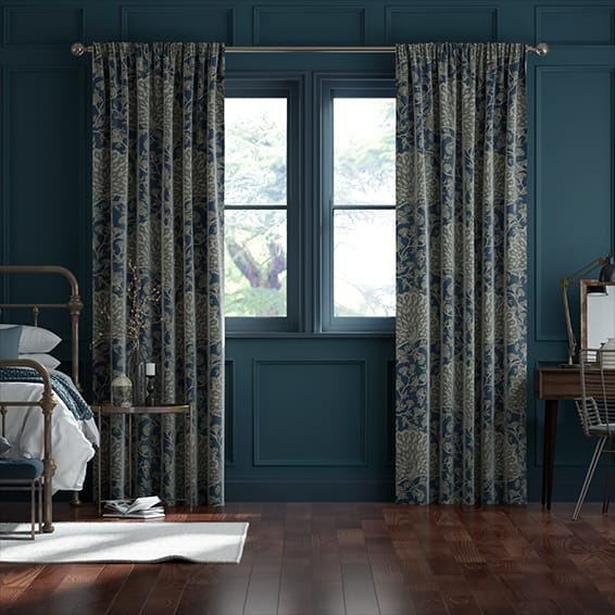 Pinion Velvet Royal Blue Curtains