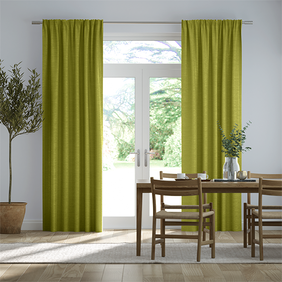 Real Silk Lime Punch Curtains