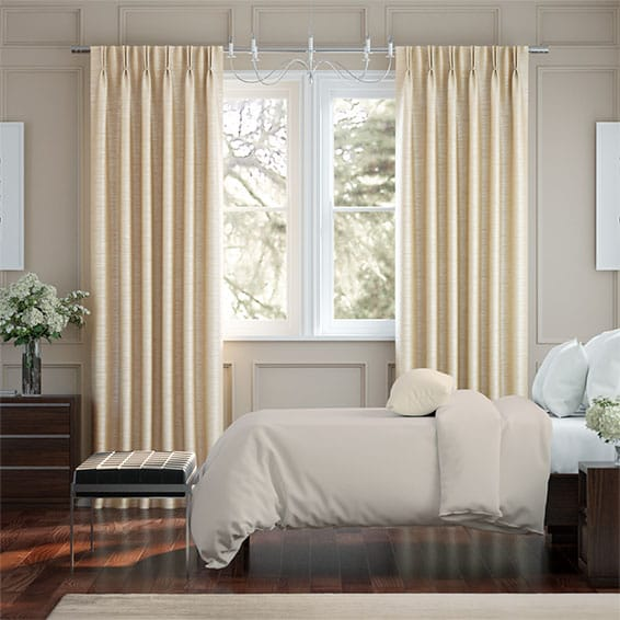 Real Silk Vanilla Curtains