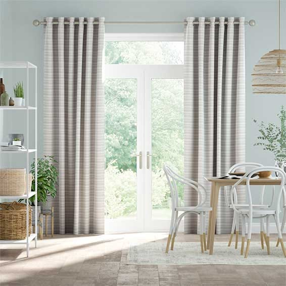 Scandinavia Stripe Aqua Curtains