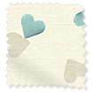 Scattered Hearts Duck Egg swatch image