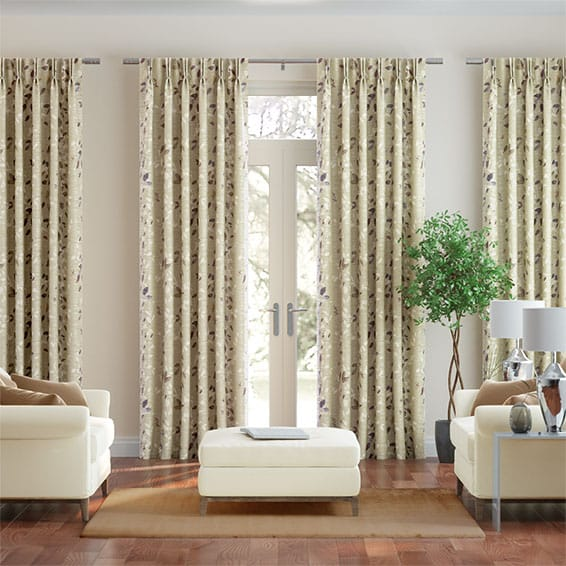 Secret Garden Faux Silk Autumn Curtains