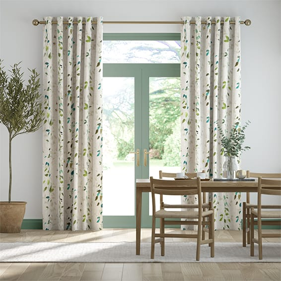 Secret Garden Linen Bluegrass Curtains