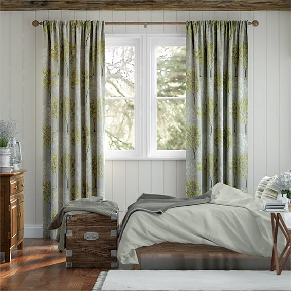 Slender Forest Linen Zest Curtains