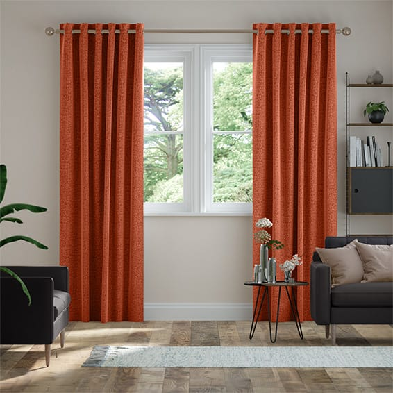 Smooth Sisal Burnt Ochre Curtains