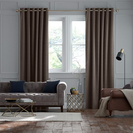 Smooth Sisal Warm Cocoa Curtains