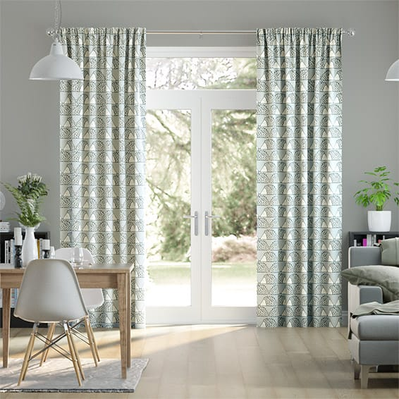 Spike Dove Grey Curtains