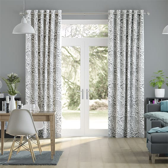 Spring Blossom Dove Grey Curtains