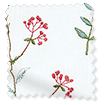 Spring Meadow Embroidered Coral Curtains slat image