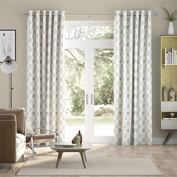 Spring Prairie Linen Mellow Gold Curtains