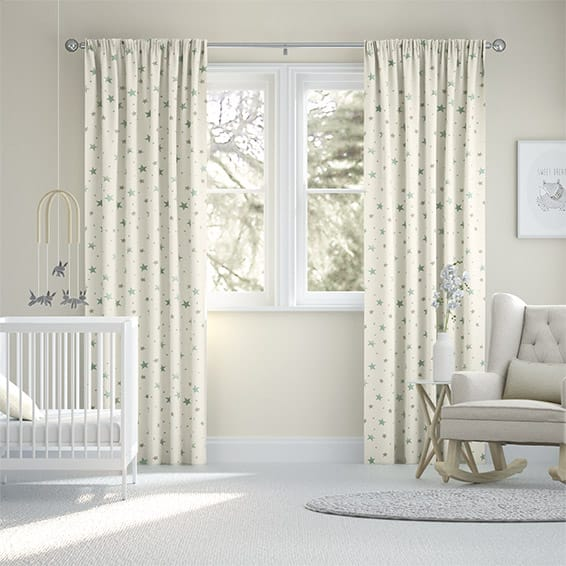 Starry Skies Duck Egg Curtains
