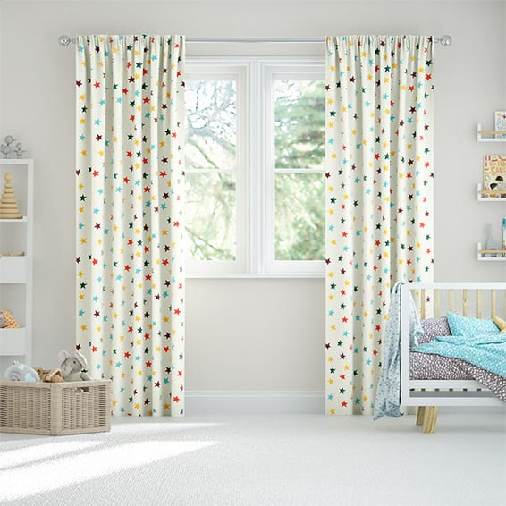 Starry Skies Multi Brights Curtains