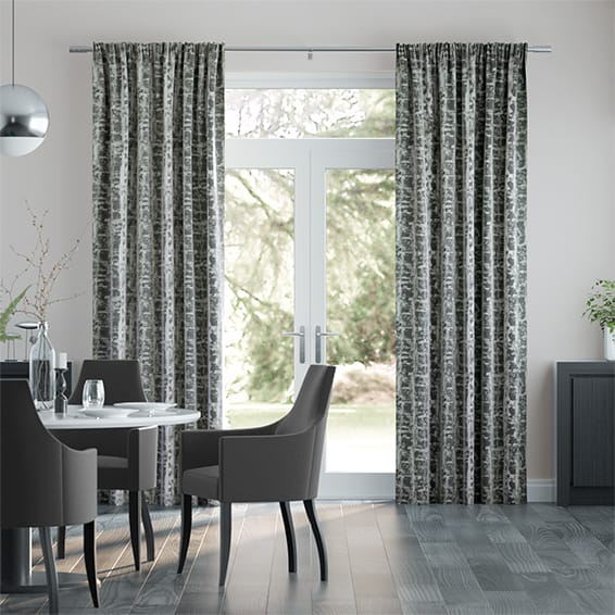 Sussex Graphite Curtains