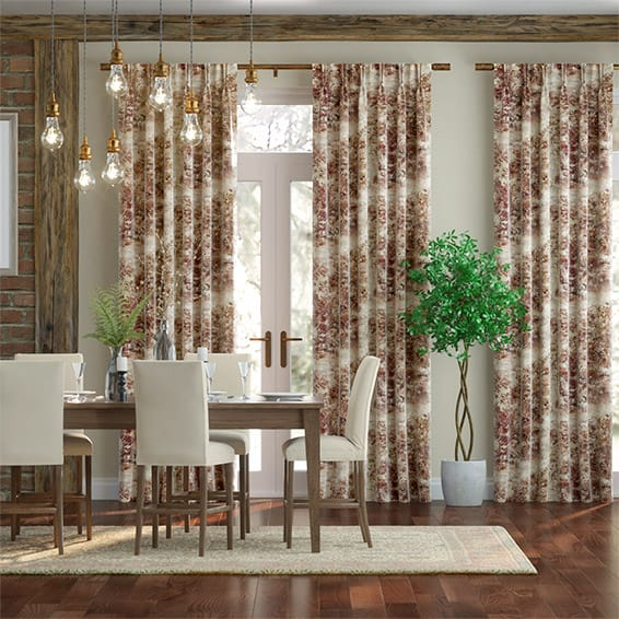 Sylvan Weave Spice Curtains