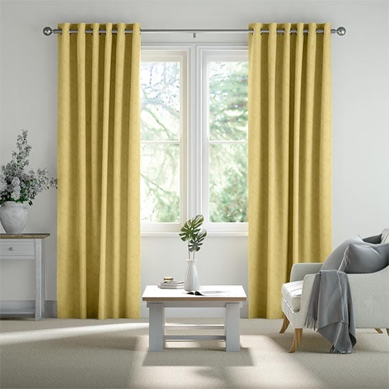 Templeton Ochre Ready Made Curtains