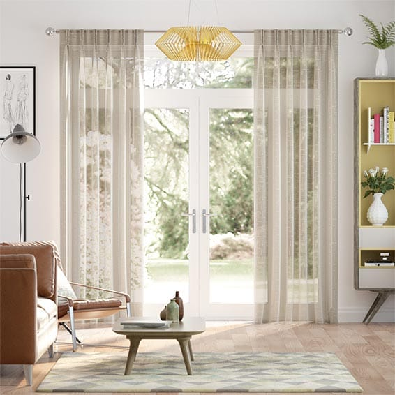 Thorens Voile Hessian Curtains