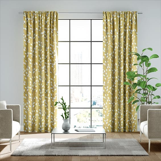 Tokyo Blossom Sunshine Ready Made Curtains